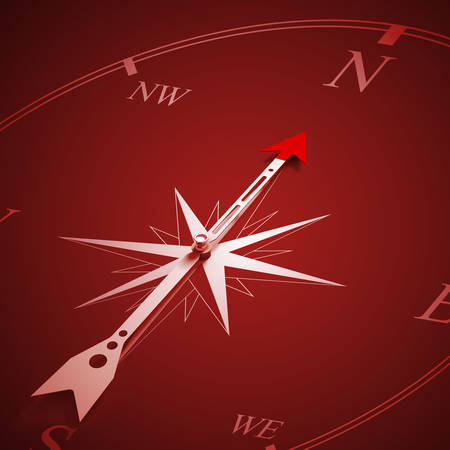 Conceptual image of compass pointing the direction Stock Photo - 27192791