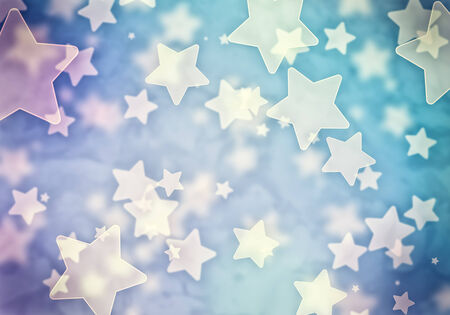 Abstract background image of blue stars lights and beams Stock Photo