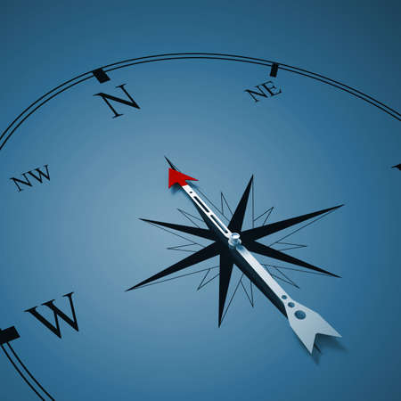 Conceptual image of compass pointing the direction Stock Photo - 27193732