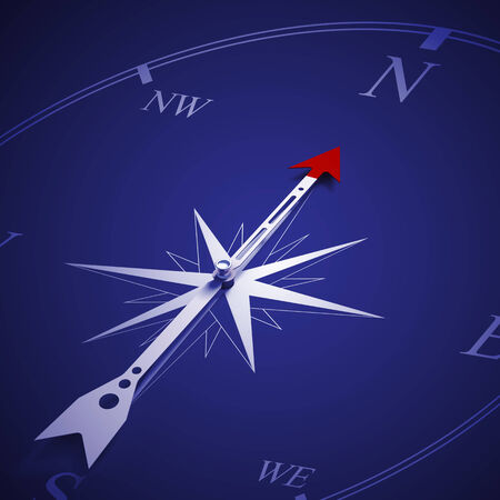 Conceptual image of compass pointing the direction Stock Photo - 27260286