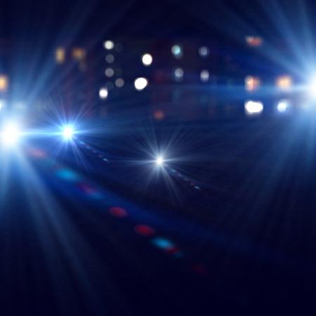 Achtergrondafbeelding van het podium in kleur verlichting