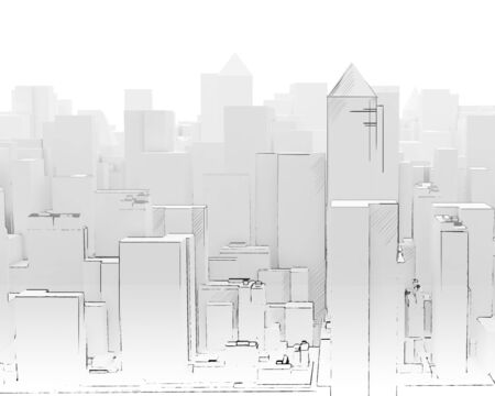 Background image of modern business district project photo