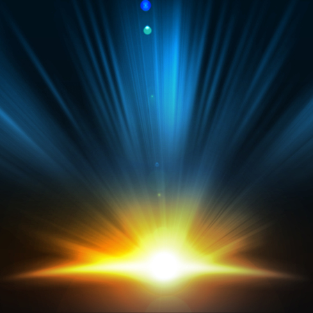 Immagine di sfondo con fasci di luce e raggi Archivio Fotografico - 28630693
