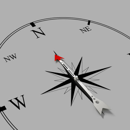 Conceptual image of compass pointing the direction photo