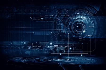 technologie: Background koncepční obraz digitálních 3D ikony Reklamní fotografie