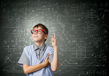 Boy of school age in glasses  Idea concept Stock Photo - 29018111