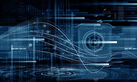 デジタル 3 d アイコンの背景イメージ