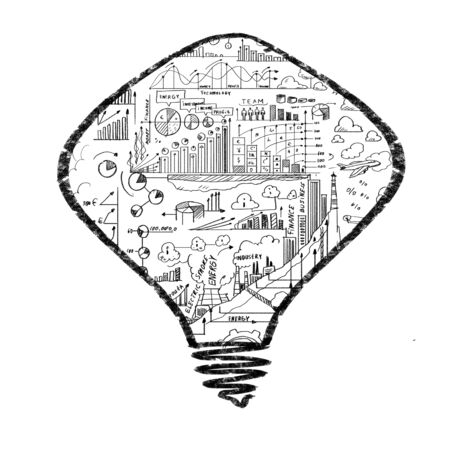Conceptual image of light bulb on white background photo