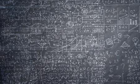 matematica: Antecedentes imagen conceptual con bocetos de negocios en la pizarra Foto de archivo
