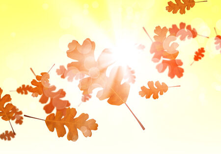Background conceptual image with autumn falling leaves photo