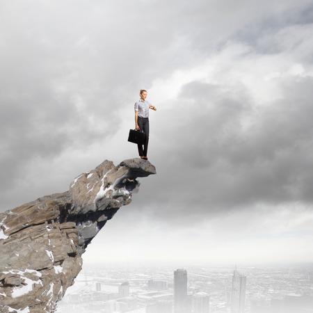 kockázatos: Kockázatos, üzletasszony, álló, él a rock