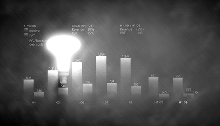 glowing light bulb: Glowing light bulb with sketches at background