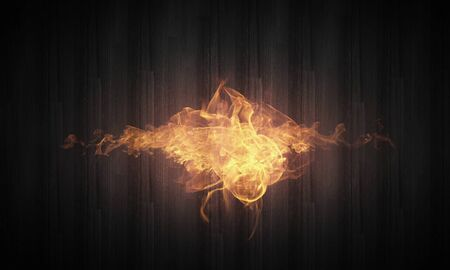 anger abstract: Conceptual image of burning fire on dark background