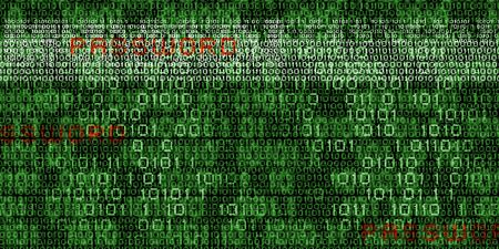 codigo binario: Imagen mediática conceptual con código binario Foto de archivo