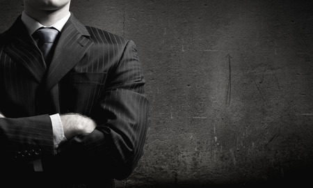 Close up of businessman with arms crossed on chest Archivio Fotografico