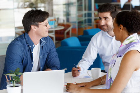 Collegues working together in an office