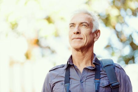 old men: Portrait of handsome man outdoors