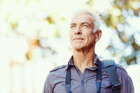 white men: Portrait of handsome man outdoors