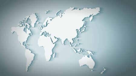 conceptual map: Conceptual image with world map on concrete wall