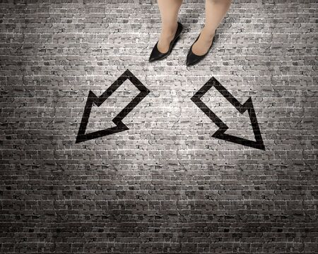 unskilled: Top view of businesswoman legs in elegant shoes