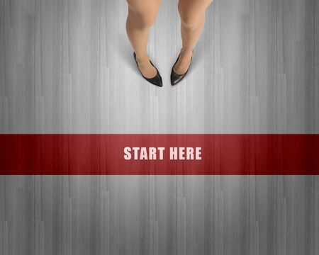 businesswoman legs: Top view of businesswoman legs in elegant shoes