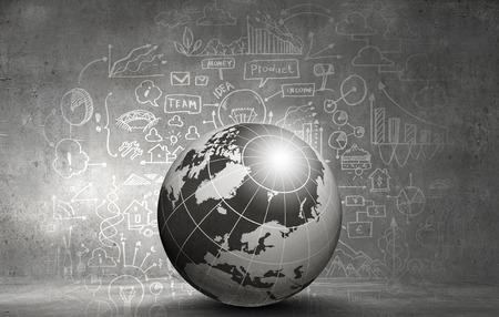 Abstract hitech digital background image with globe Reklamní fotografie