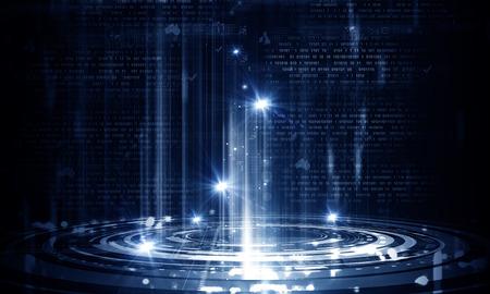 codigo binario: Negocios imagen abstracta con gr�ficos de alta tecnolog�a y el c�digo binario