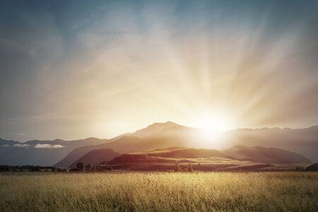 自然風景の美しい日の出山頂上