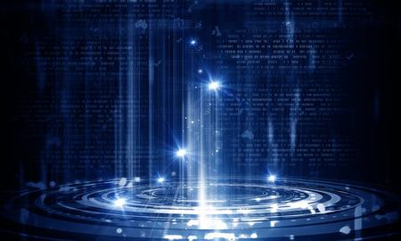 codigo binario: Negocios imagen abstracta con gráficos de alta tecnología y el código binario