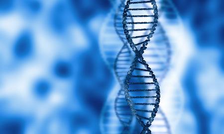 adn humano: Imagen Azul digital de la mol�cula de ADN y la tecnolog�a de conceptos Foto de archivo