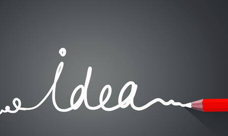 Idea concept image with pencil drawing light bulb Stock Photo