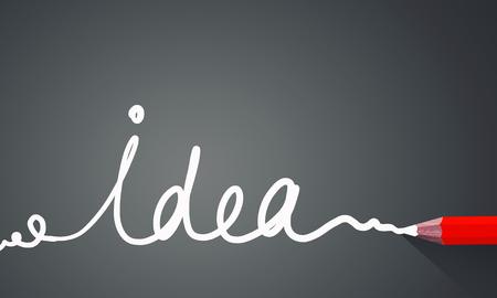Idea concept image with pencil drawing light bulb Фото со стока