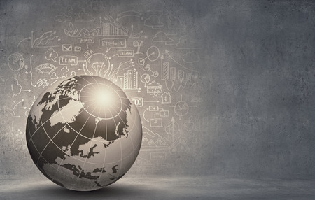 globe: Abstract beeld hitech digitale achtergrond met globe