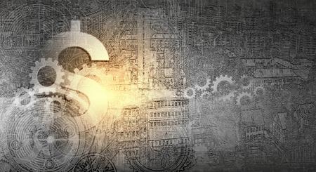 Abstraktes Bild mit finanziellen Business-Thema und Konzepte