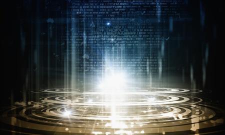 Background blue image of global digital technologies Фото со стока