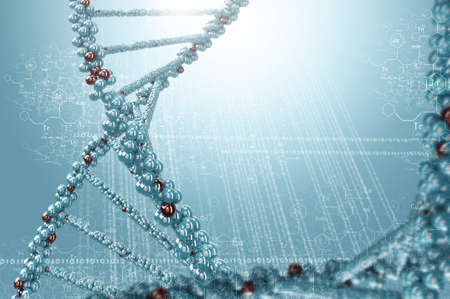 biochemistry: Biochemistry background concept with high tech dna molecule
