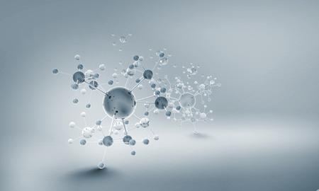 분자 체인 하이테크 배경 개념