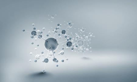 High tech background concept with molecule chain