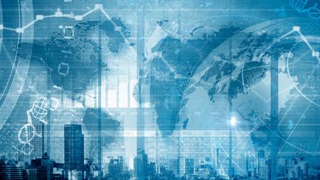 economia: Imagen de fondo con diagramas y gráficos digitales
