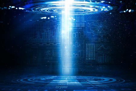 Immagine di sfondo con il portale luce proveniente dal cielo