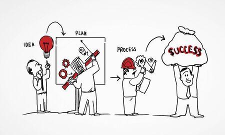 diferentes profesiones: Imagen Caricatura de personas de diferentes profesiones en el fondo blanco