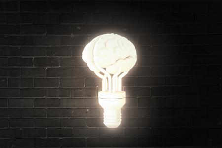 psicologia: Imagen Ciencia con el cerebro humano sobre fondo oscuro