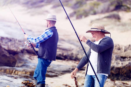 waders: Picture of fishermen fishing with rods