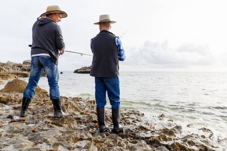 placidity: Picture of fishermen fishing with rods