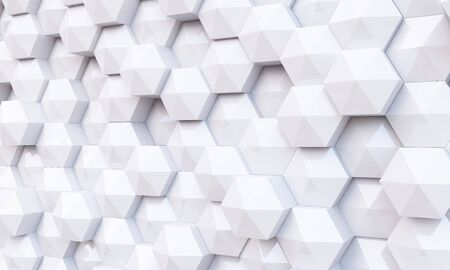disintegrating: Background image of futuristic concept with white cube elements