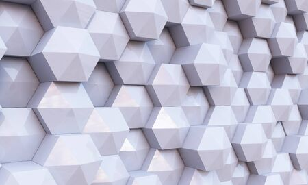 disintegrating: Background image of futuristic concept with silver cube elements