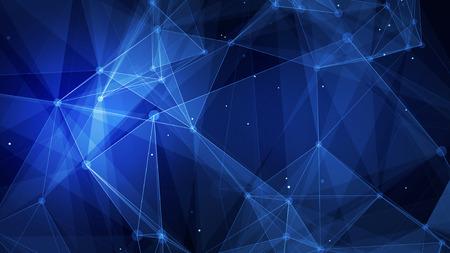 beeld Abstracte blauwe technologie digitale netachtergrond