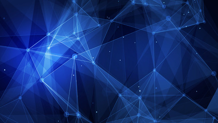 Abstract blue technology digital grid background image Banque d'images