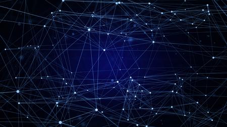 La tecnología azul abstracto fondo de la red digital de