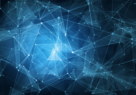 công nghệ xanh Tóm tắt hình nền lưới kỹ thuật số